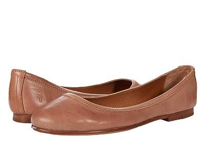 Frye Carson Ballet (Light Rose Vintage Veg Tan) Women