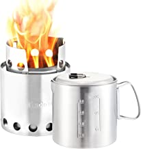 Solo Stove & Pot 900 Combo: Ultralight Wood Burning Backpacking Cook System. Lightweight Kitchen Kit for Backpacking, Camp...