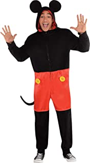 Zipster Mickey Mouse One Piece Halloween Costume for Men