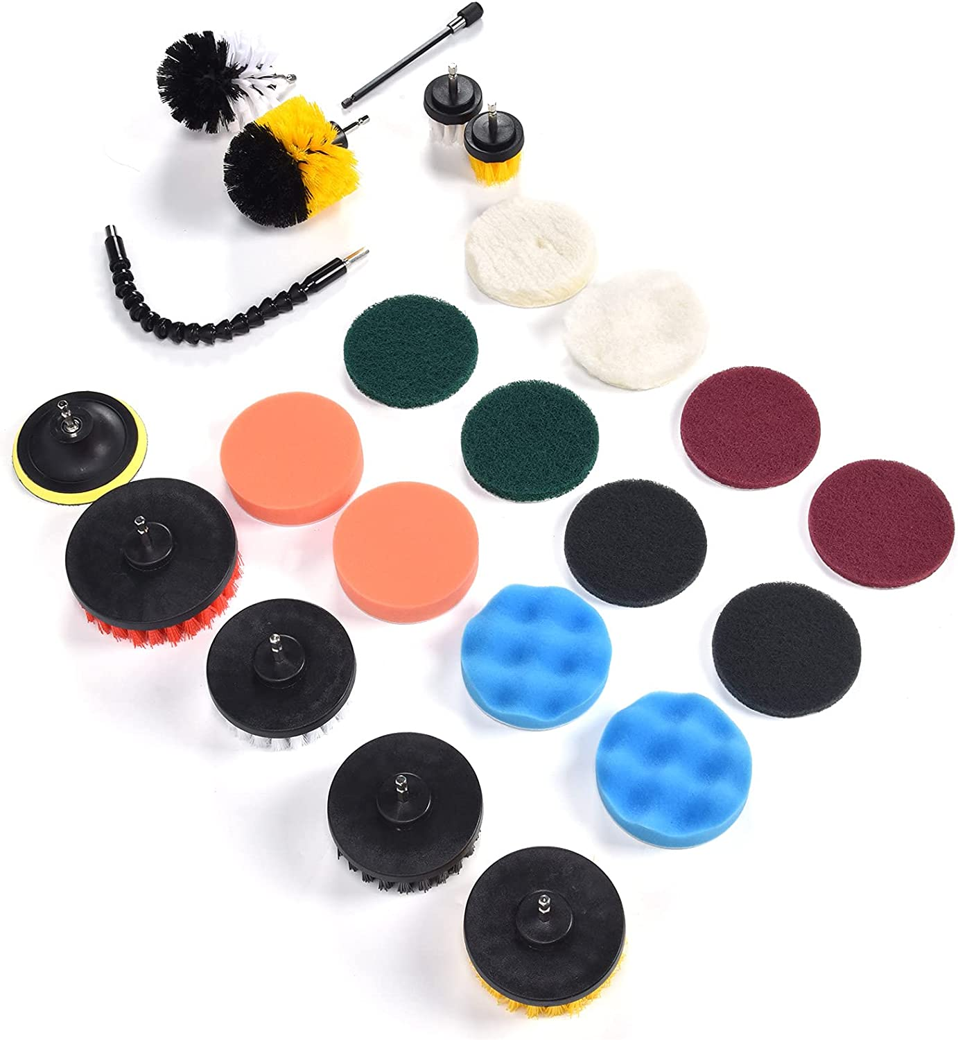 Cleaning Raleigh Mall Brush Very popular Set Get Faster Scrub Jobs 23PCS D