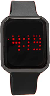 Unisex Rubber Band Smart Touch Screen LED Watch 3 ATM Water Resistant - 8231 Black/Gunmetal