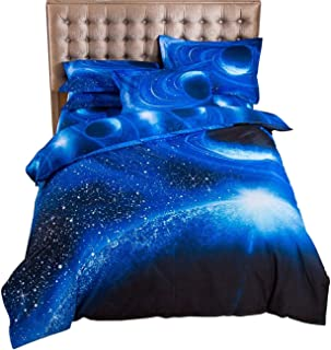PICTURESQUE Galaxy Quilt Cover with Star Nebula Patterns Duvet Cover Outer Space Bedding Set