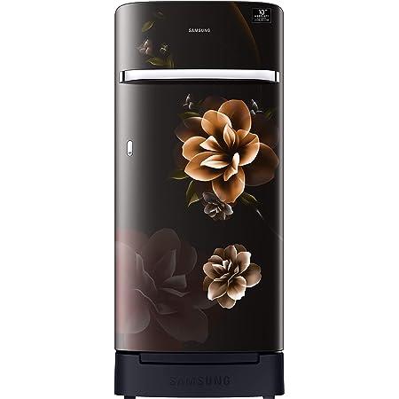 Samsung 198 L 5 Star Inverter Direct-Cool Single Door Refrigerator (RR21T2H2WCB/HL, Camellia Black, Base Stand with Drawer)