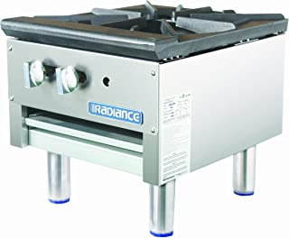 TASP18S Single Stock Pot Stove with Stainless Steel Construction 79000 BTU Burner Heat Resistant Knobs Stainless Steel Pilots and Removable Crumb Tray: Short Body