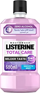 LISTERINE®, Mouthwash, Total Care, Zero Alcohol, Smooth Mint, 500ml