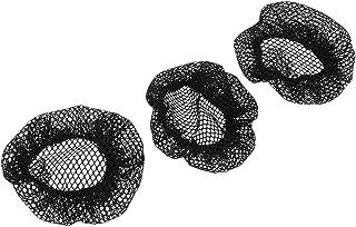 Baoblaze 3個 ヘアネット メッシュ 髪まとめ お団子髪型 レディース ヘアアレンジ ダンス用 ブラック