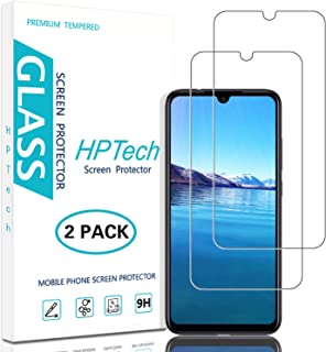 HPTech Redmi Note 7 Screen Protector - (2-Pack) Tempered Glass Film for Xiaomi Redmi Note 7 / Redmi Note 7 Pro Easy to Install, Bubble Free with Lifetime Replacement Warranty
