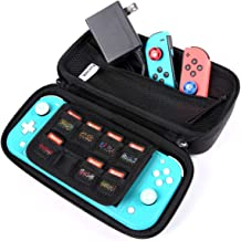 Switch Lite Case for Nintendo with Zippered Mesh Pocket Unique Design,Mini Storage Bag for Game Consoles and Accessories,S...
