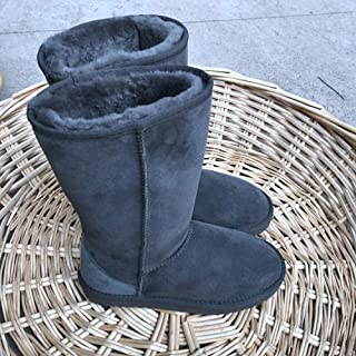 HOESCZS Boots Martin Autumn and Winter Boots Womens Thick with New Snow Boots Plus Cotton High-Heeled Shoes Students Fashion Martin Boots