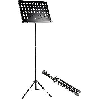 RockJam G905Altura & ángulo ajustable para director de orquesta Hoja Soporte, color negro mate