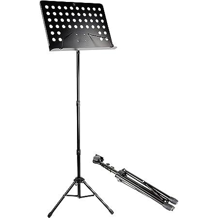 Windsor Soporte de música para orquesta, de partituras, totalmente ajustable, color Negro