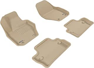 3D MAXpider Complete Set Custom Fit All-Weather Floor Mat for Select Volvo S60 Models - Kagu Rubber (Tan)