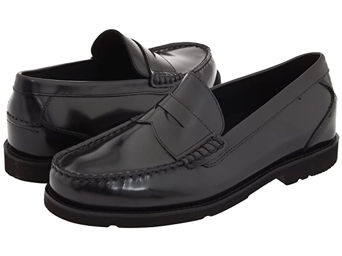 Rockport  Oak Knoll - Shakespeare Circle (Black Brush-Off Leather) Mens Slip-on Dress Shoes