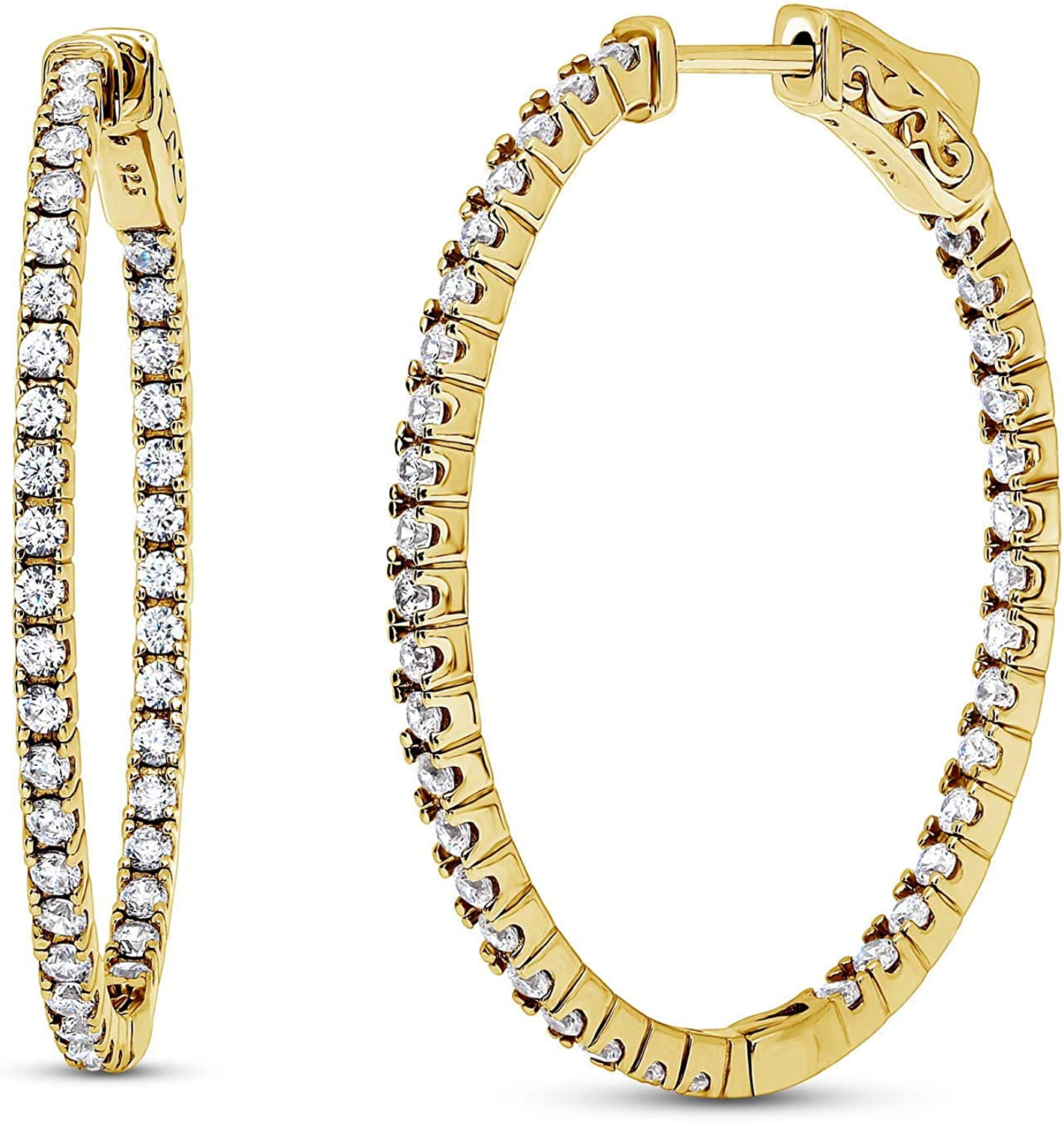 BERRICLE Yellow Manufacturer regenerated product Gold Flashed Sterling CZ O Silver Zirconia Cubic Ultra-Cheap Deals