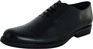 STYLIANO Men's Leather Derby Shoes