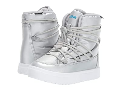 Native Kids Shoes Chamonix (Little Kid) (Silver Metallic/Shell White) Girls Shoes