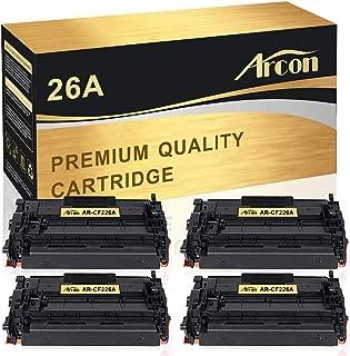 Arcon Compatible Toner Cartridge Replacement for HP 26A CF226A HP LaserJet Pro M402n M402dn M402dw M402d HP LaserJet Pro MFP M426dw M426fdw M426fdn HP 26A CF226A 26X CF226X M402n M426fdw Printer-4Pack