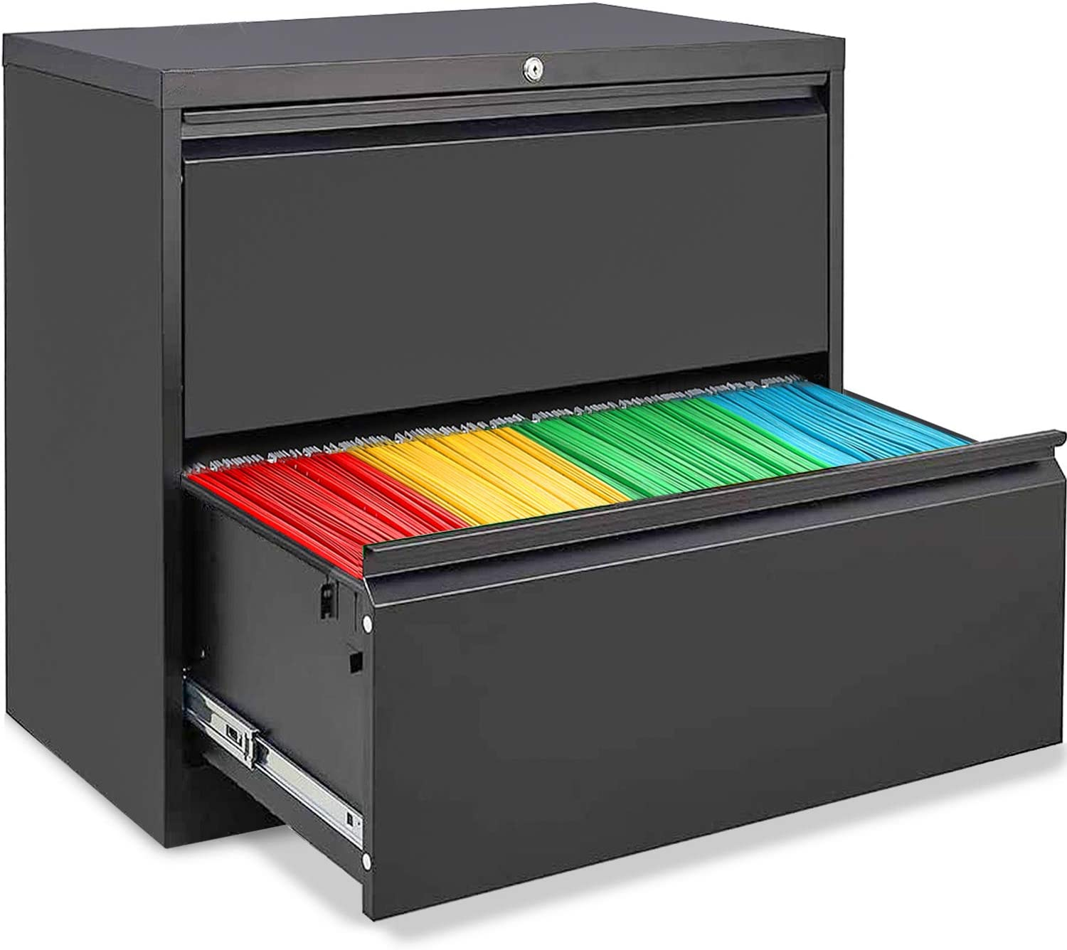 AUTSCA 正規品 2 年中無休 Drawer Lateral File Metal Lock Fi with Cabinet