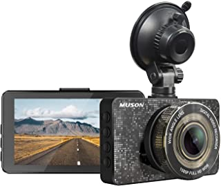 Dash Cam MUSON Car Dash Cam 1080P Full HD 3.2-inch Dashboard Camera, Super Night Version with 170° Wide Angle, Loop Record...