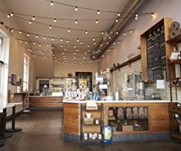Cafe Bar Interior Photography Backdrop Romantic Light Coffee on Table Vintage Shop Scene Background for Photo Studio 10x8 ft