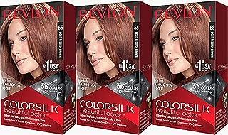 Revlon Colorsilk Beautiful Color, Light Reddish Brown, 3 Count