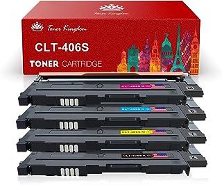 Toner Kingdom 4 Paquete Compatible Cartucho de tóner Para Samsung CLT-406S CLP-360 CLP-365 CLP-365W CLP-360N CLP-365W CLX-3300 CLX-3305 CLX-3305FN CLX-3305FW CLX-3305N CLX-3305W Xpress C410W SL-C460FW Impresora (1 Negro, 1 Cian,1 Magenta,1 Amarillo)