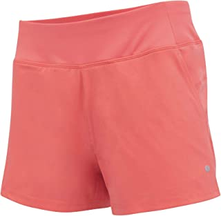 Women's Knit and Woven Quick Dry Two in One Running Yoga Work Out Short with Compression Shorts Underneath