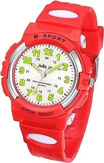 Reloj de pulsera infantil de cuarzo con correa de goma analógica de cuarzo para niños y niños
