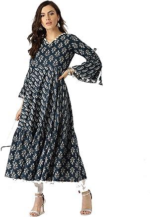 48dd3d5fc6b Leda Grey Printed Indian Pakistani Kurtis Ethnic Kurti Women Dress