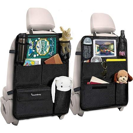 Tsumbay Auto Organizer Auto Rückenlehnenschutz 2 Stück Wasserdicht Auto Rücksitz Organizer Durchsichtigem Große Taschen Und Ipad Tablet Fach Multifunktionale Auto Aufbewahrungstascheanizer Baby