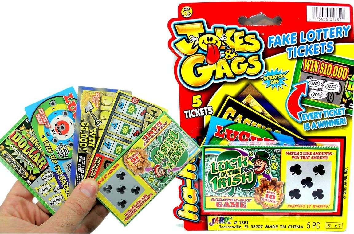 JA-RU Fake shop Lottery Ticket Scratch Tickets P Pack 1 5 New color