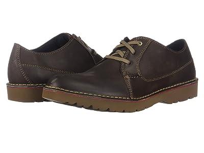 Clarks Vargo Plain (Dark Brown Leather) Men