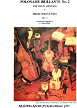 Wieniawski, Henryk - Polonaise Brillante, Op 21 - for Violin and Piano - edited by Pollitzer - Masters Music Publication