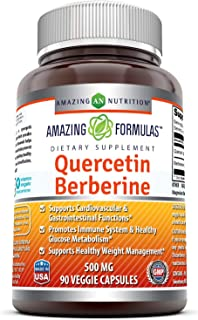 Amazing Formulas Quercetin Berberine - 250mg Berberine and 250mg Quercetin (Non-GMO,Gluten Free) -Potent Anti-oxidant Prop...