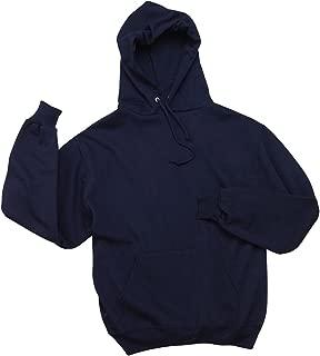 Jerzees mens 8 oz. 50/50 NuBlend Fleece Pullover Hood(996)-J NAVY-L