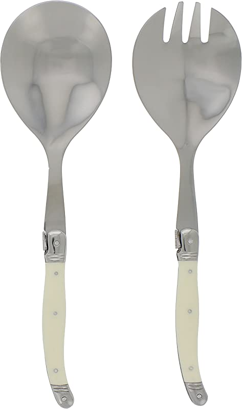 French Home LG038 2 Piece Salad Servers Ivory