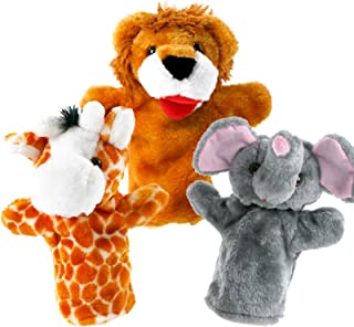 Stuffed Animal Hand Puppets for Toddlers Set of 3, Imaginative Plush Puppets for Kids Preschool – Children Toys & Birthday...