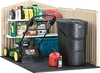 Rubbermaid Slide-Lid Resin Weather Resistant Outdoor Garden Storage Shed for Backyard, Garden, Tool Storage, Lawn, Garage Org