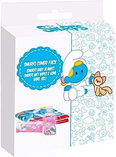 Smurfs Combo Pack(Smurfs Baby Blanket,Smurfs Wet Wipes & 60 ml Hand Gel)