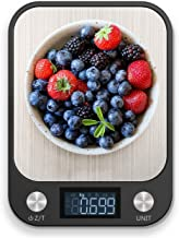 RoyalPolar Food Scale, Multifunction Digital Kitchen Scale High Accuracy Electronic Food Weight with Large LCD Display, Stainless Steel Platform, Ultra Slim, From 11lb/5kg up to 33lb/15kg (Black, 15)
