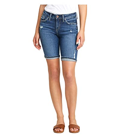 Silver Jeans Co. Suki Mid-Rise Curvy Fit Bermuda Shorts L53940SGX350 (Indigo) Women