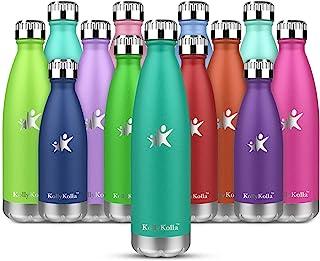 KollyKolla Vacuüm Geïsoleerde Roestvrijstalen Drinkfles, BPA-vrije Waterfles Lekvrij - 350ml Thermosfles voor Sport, Buite...