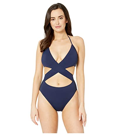Vince Camuto Surf Shades Wrap One-Piece (Deep Sea) Women