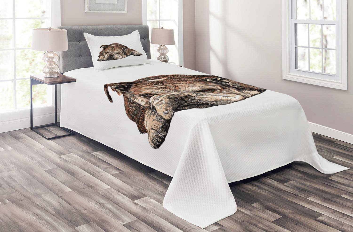 Ambesonne Bulldog Coverlet Digitally Single Baltimore Max 90% OFF Mall Generated D