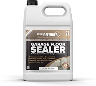 Garage Floor Sealer, 1 Gal - Clear, Water-Based Acrylic Sealer for Concrete Surfaces