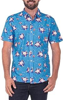 Men's Pool Boy Santa Hawaiian Ugly Christmas Button Down Shirt - Hawaiian Christmas Shirt