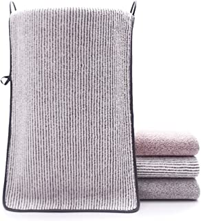 (ニキ)NiKi バスタオル 3枚セット タオル マイクロファイバー 厚手 フェイスタオル洗顔 速乾 吸水 抗菌 防臭 家庭用 業務用 瞬間吸水 ふわふわ 柔らかい 70x140cm 300g (1枚入)白xストライプ