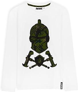 Fortnite Camisetas Niño De Manga Larga, Ropa para Gamers De Algodón con Originales Estampados, Regalos para Niños y Adoles...