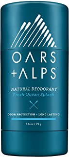 Oars + Alps Natural Deodorant, Allergen-Free Fragrance, Aluminum-Free, Alcohol-Free, Fights Odor. 2.6 oz
