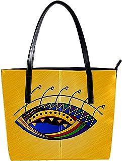 LORVIES - Borsa a tracolla da donna in pelle PU, con occhi colorati africani